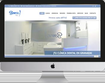 Trabajo de posicionamiento web en Clínica Sonríe Granada