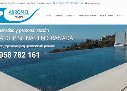 portfolio de arromel piscinas granada