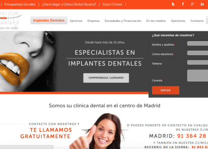 seo clinica dental madrid