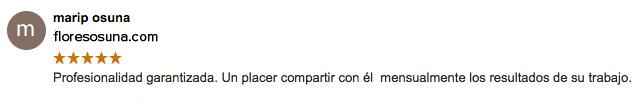 opinion flores osuna Granada