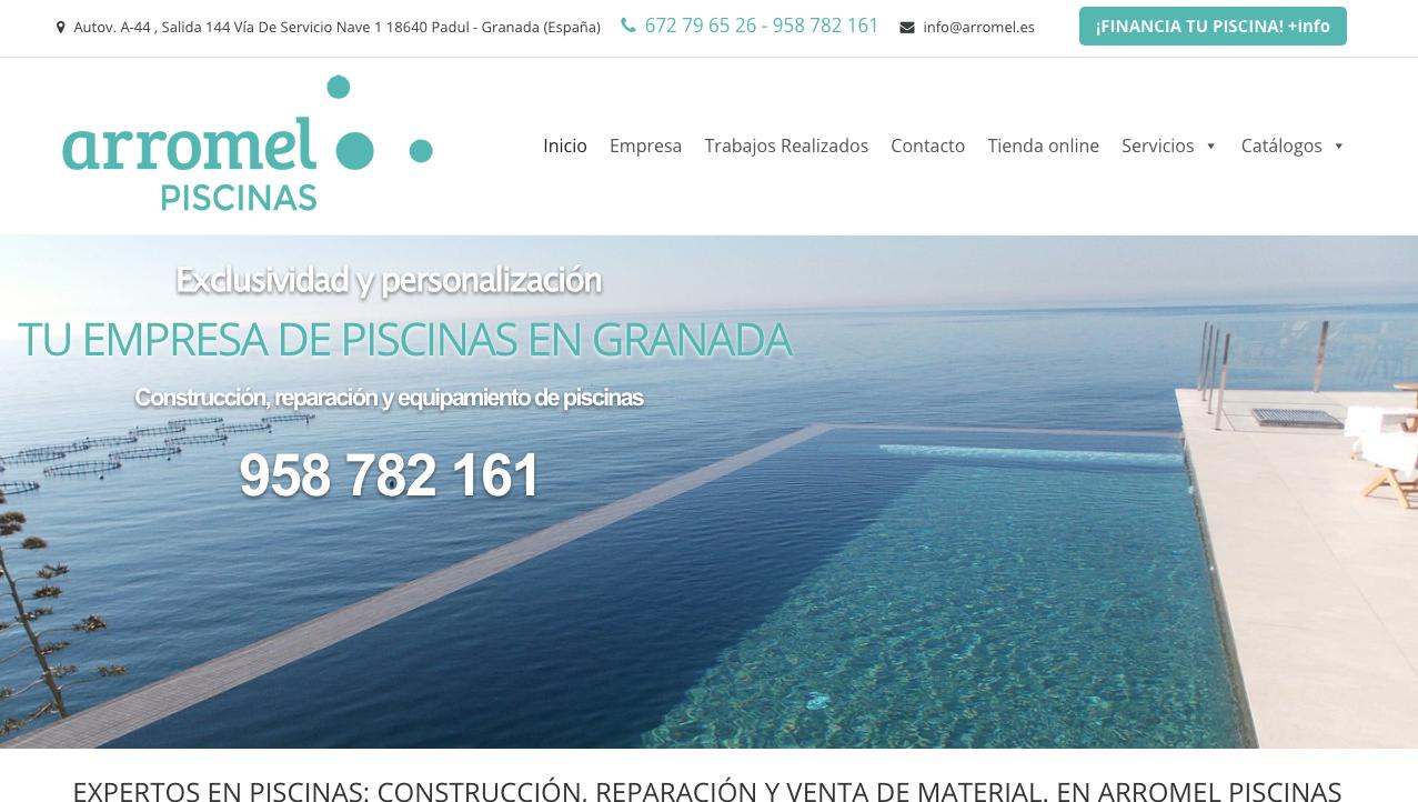 trabajo SEO en empresa Arromel Piscinas Granada