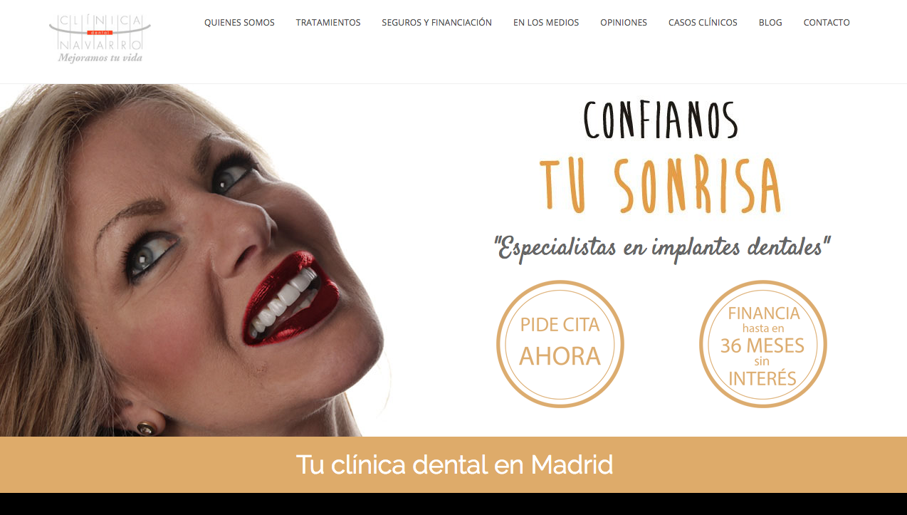 posicionamiento SEO de Clínica Dental Navarro Madrid