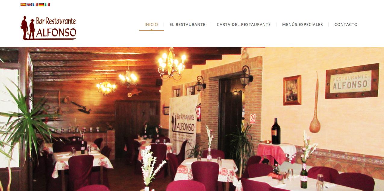 diseño web del restaurante Alfonso Estepona