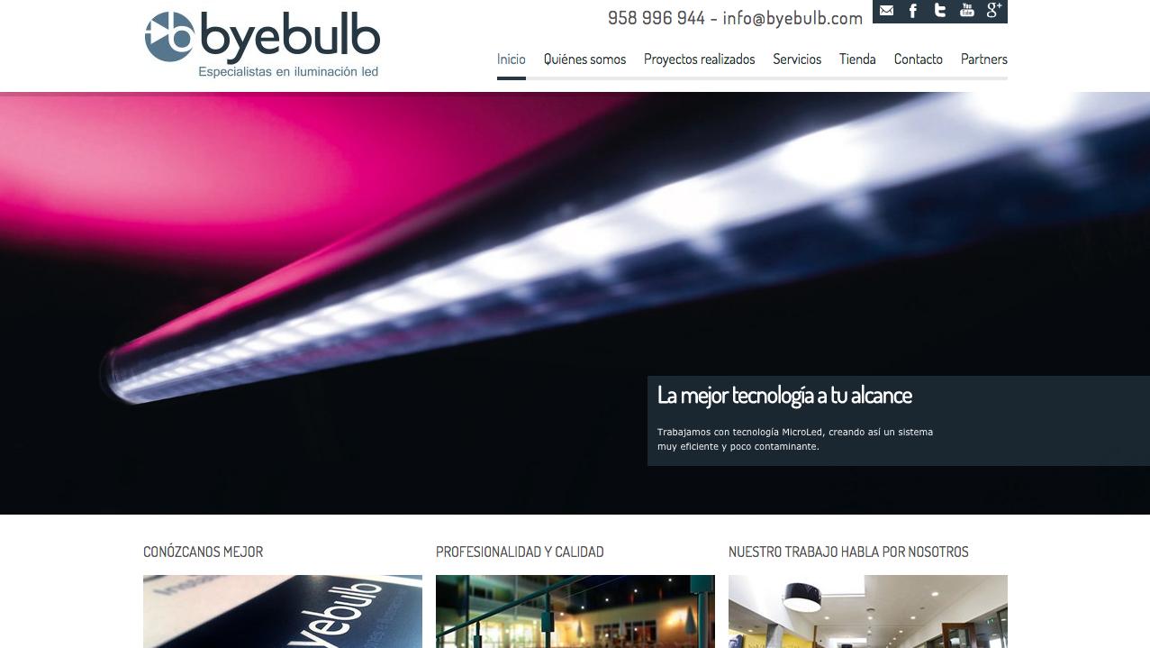 posicionamiento web de la tienda de iluminación Byebulb Granada