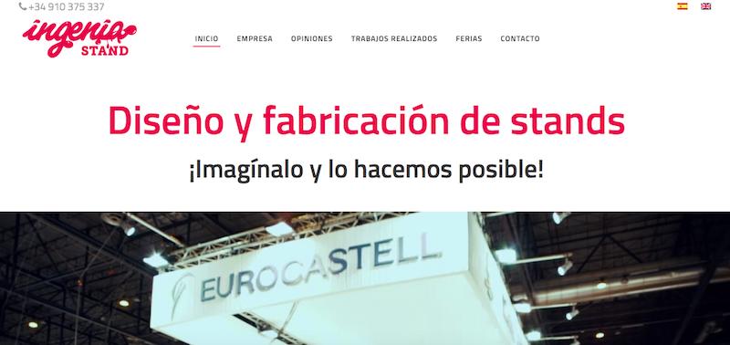 trabajo de posicionamiento en la web de Ingenia Stand