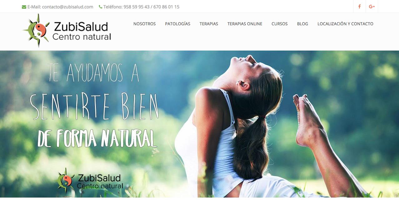 posicionamiento web de Zubisalud terapias naturales en Granada