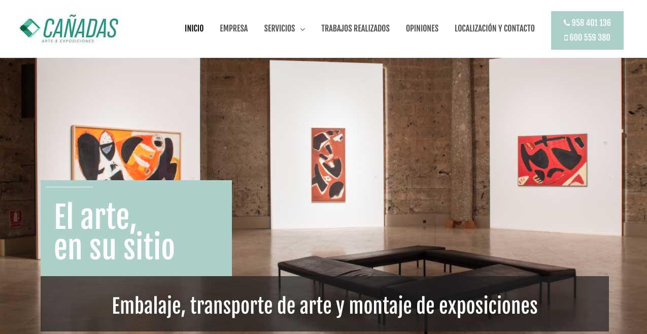 web y posicionamiento para Cañadas Arte y Exposiciones